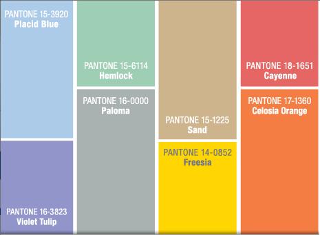 Pantone Colour Pallette